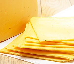 Cheese slices tested for firmness and lack of stickiness